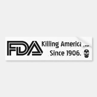 Evil FDA (White) Bumper Sticker