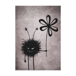 Evil Flower Bug Vintage Canvas Print