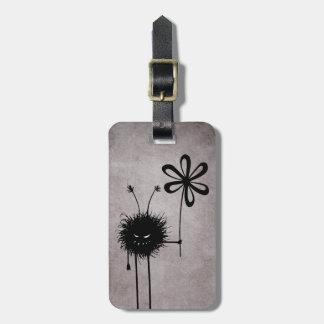 Evil Flower Bug Vintage Personalised Luggage Tag