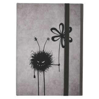 Evil Flower Bug Vintage Strap Folio Case For iPad Air