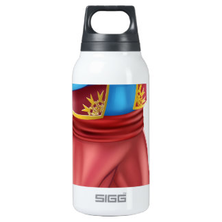 Evil genie standing insulated water bottle