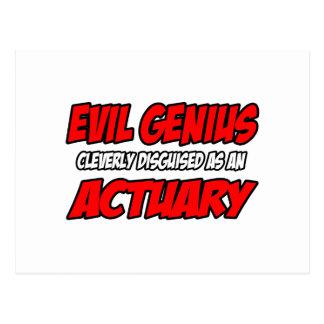 Evil Genius...Actuary Post Card