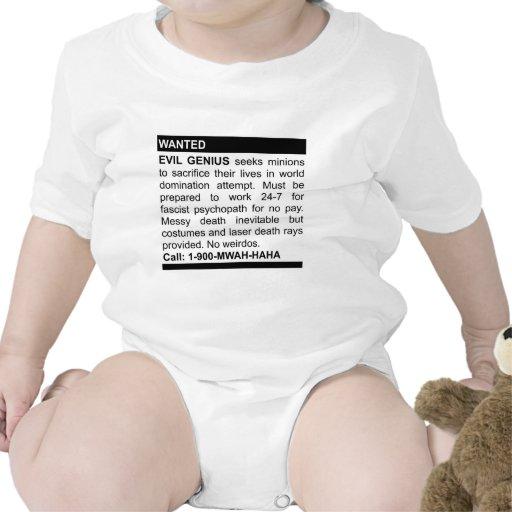 Evil Genius Ad Shirts