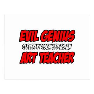 Evil Genius...Art Teacher Postcard