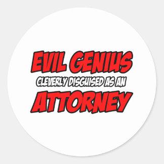 Evil Genius Attorney Stickers