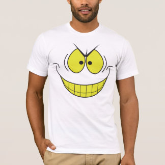 Evil Genius Big Smile Smiley Face Tshirt