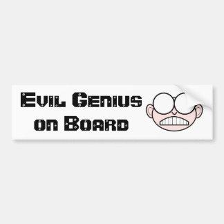 Evil Genius Bumper Sticker