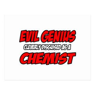 Evil Genius...Chemist Postcard