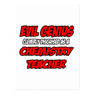 Evil Genius...Chemistry Teacher Postcards