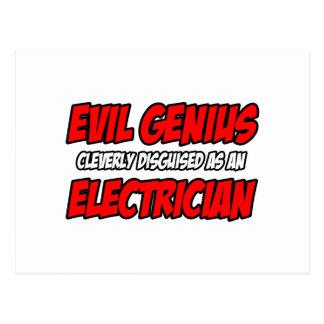 Evil Genius...Electrician Postcard