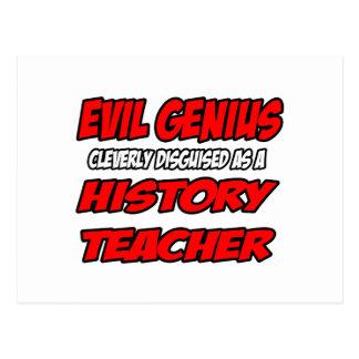 Evil Genius...History Teacher Post Card