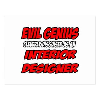 Evil Genius...Interior Designer Postcards