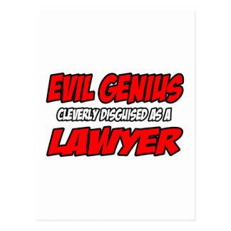 Evil Genius...Lawyer Post Cards