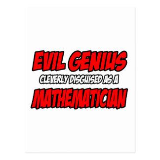 Evil Genius...Mathematician Post Cards