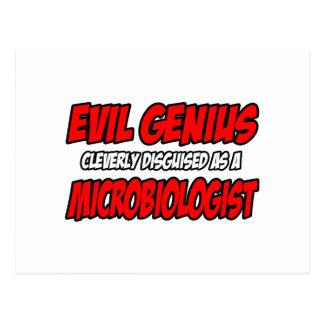 Evil Genius...Microbiologist Postcard