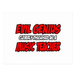 Evil Genius...Music Teacher Postcards