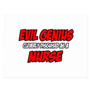 Evil Genius...Nurse Post Card