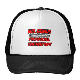 Evil Genius...Physical Therapist Mesh Hats