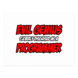 Evil Genius...Programmer Post Cards