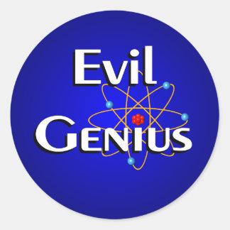 Evil Genius Round Sticker