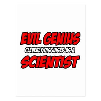 Evil Genius...Scientist Postcard