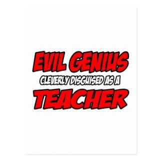 Evil Genius...Teacher Post Cards