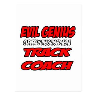 Evil Genius...Track Coach Postcards