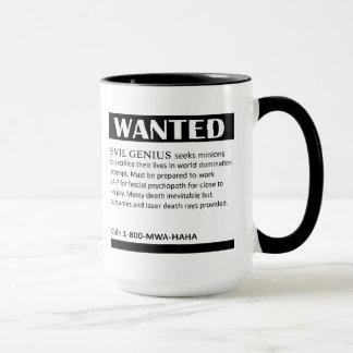 Evil Genius Wanted Ad Mug
