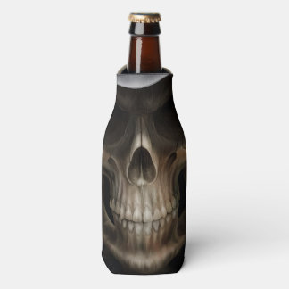 Evil Grinning Skull Bottle Cooler