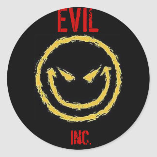 EVIL Inc. Round Sticker