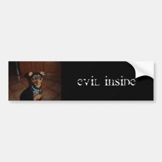 Evil Inside Bumper Sticker
