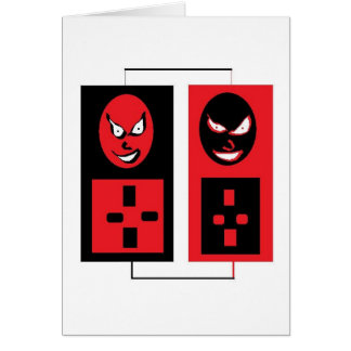 evil ipods greeting card