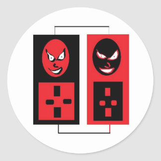 evil ipods round sticker