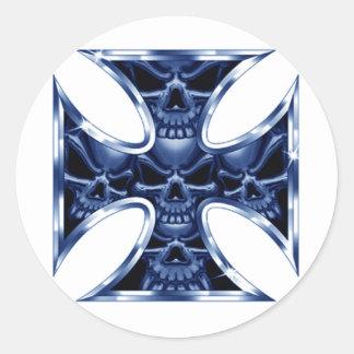 Evil Iron Cross 2 Classic Round Sticker