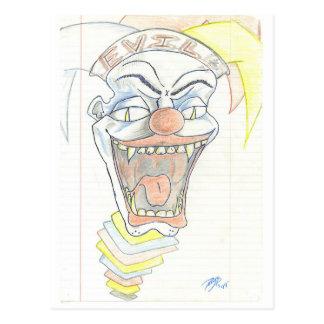 Evil Jack in the Box Postcard