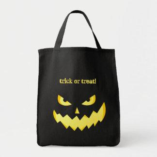 Evil Jack-o'-lantern faces - trick or treat Bag