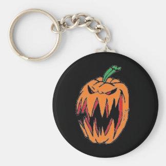 Evil Jack O Lantern Keychain