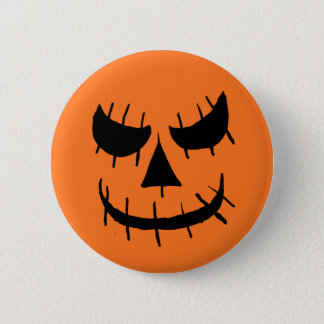 Evil jackolantern face button