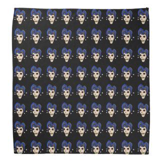 Evil Jester Skull (Blue) Bandanas