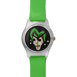 Evil Jester Skull (Green) Watch