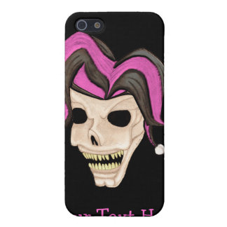 Evil Jester Skull (Pink) iPhone 5 Cases