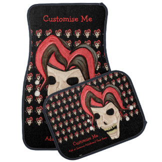 Evil Jester Skull (Red) Car Mat
