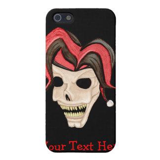 Evil Jester Skull (Red) iPhone 5 Case
