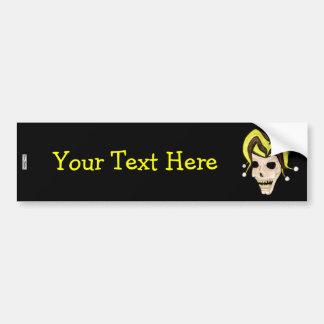 Evil Jester Skull (Yellow) Bumper Sticker