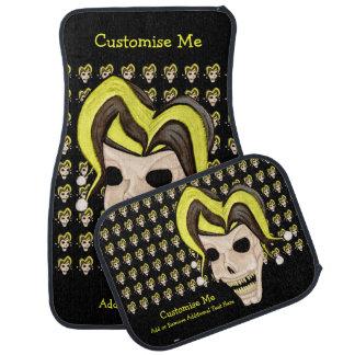 Evil Jester Skull (Yellow) Car Mat