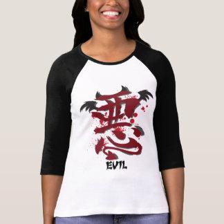 """Evil Kanji Ladie's 3/4"""" Raglan Shirt"""