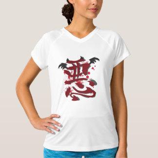 Evil Kanji Ladie's Micro Fiber Sleeveless T Shirt