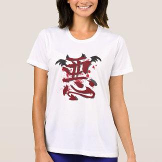 Evil Kanji Ladie's Micro Fiber T-Shirt