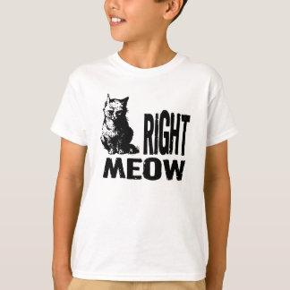 Evil Kitty - RIGHT MEOW Tee Shirt