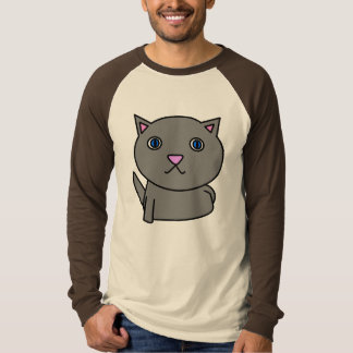 evil kitty surprise - gray T-Shirt